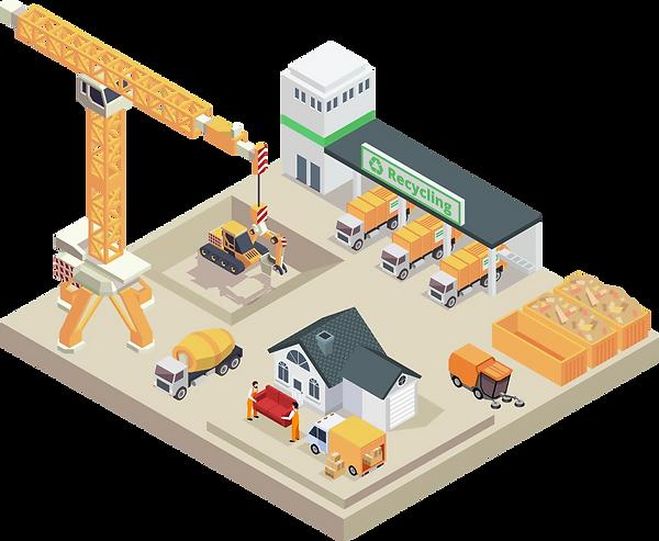 Softwarelösungen für die Baustellenlogistik sowie für Entsorgungszentren und Kommunalbetriebe.
