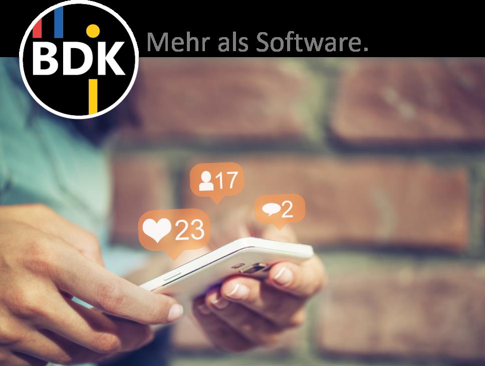 Social Media, online, BDK, Facebook, Twitter, Xing, LinkedIn