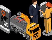 Auftragsausführung mit mobilem Rapport für Spezialtransporte.