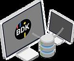 Transportsoftware der BDK, welche mit einem Server zu anderen Softwarelösungen verbunden ist.