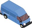 Lieferwagen eines Kurierdienstes.