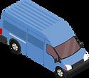 Lieferwagen eines Kurierdienstunternehmens.