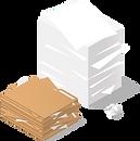 Papierstapel und verschiedene Dokumente eines Kanalreinigungsunternehmens