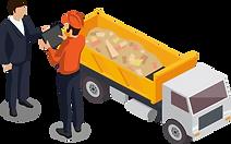 Auftragsausführung mit mobilem Transportrapport.