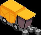Kehrmaschine für Gemeindetransporte.