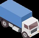 Lastwagen eines Unternehmens mit eigener Fahrzeugflotte.