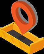 Mulden stellen mit automatischer Geo-Position.