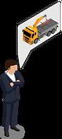 Digitale Auftragsentstehung für Krantransporte.