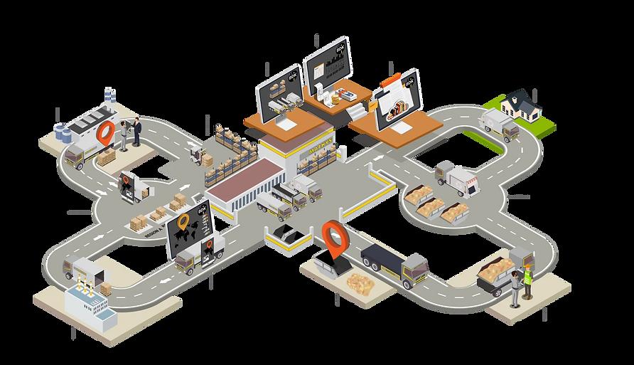 Prozessablauf des Transport- und Logistikunternehmens Hans Mathys AG als Infografik.