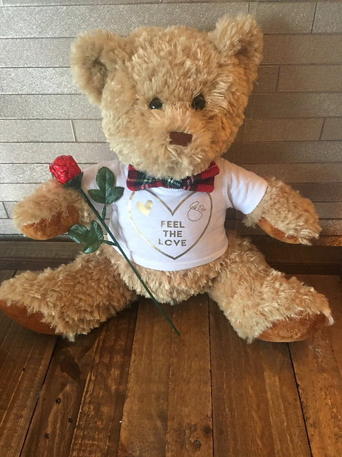 Mother's Day Cuddly Teddy with Chocolate Rose