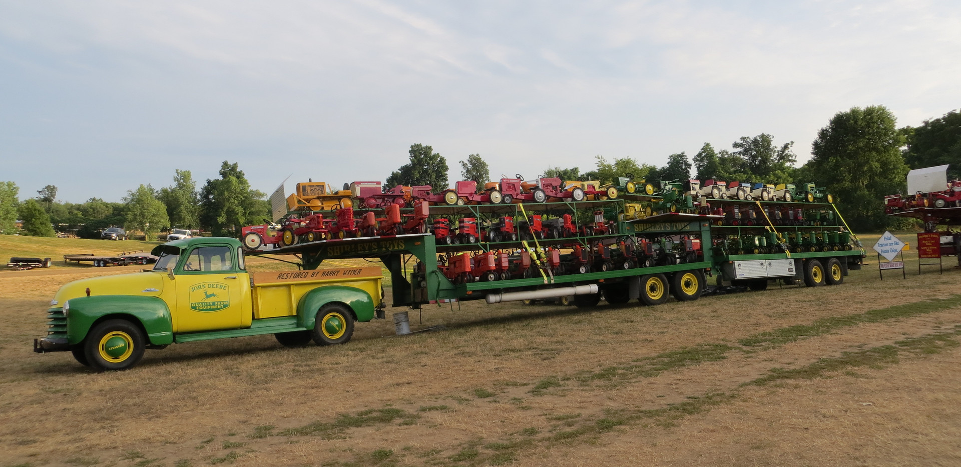 JD Truck with pedal tractors.JPG