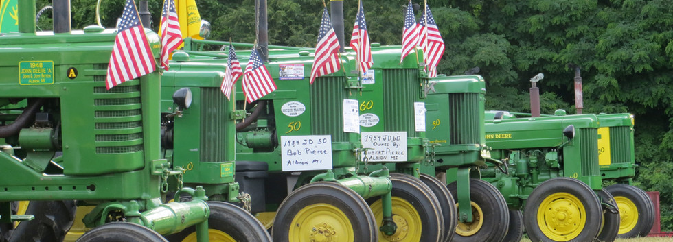 John Deere tractors with USA pride