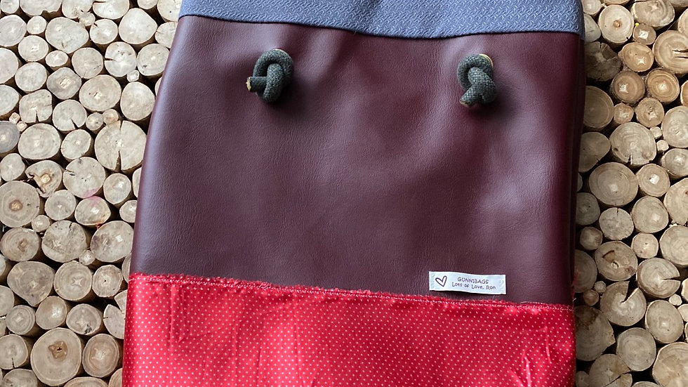Maroon with red silk