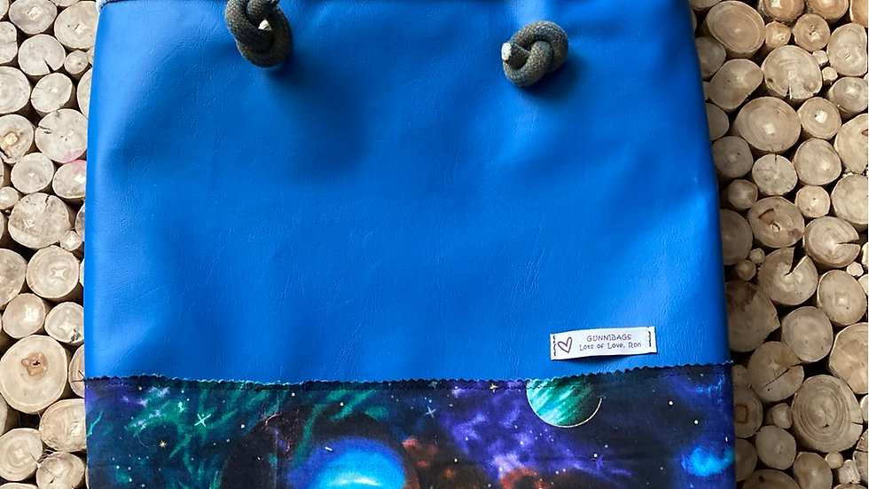 Blue with space and velvet