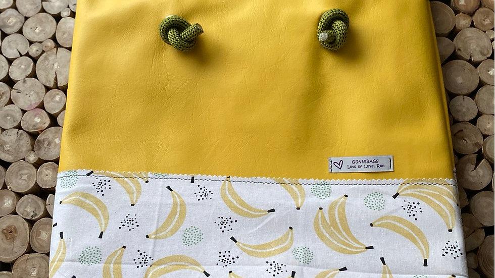 Yellow with bananas