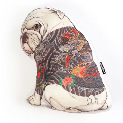 Bulldog with Tattoo