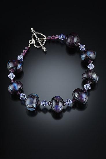 Deep Purples and Blues Bracelet