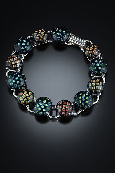 Blue-green/Orange-yellowDichro Bracelet