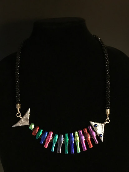 """Reaching for the Sky"" Bonefish Statement Necklace"