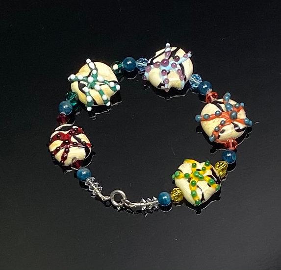 Unique Multi -colored Starfish Bracelet