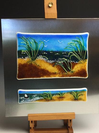 """""""Sea Breezes"""" Glass Landscape Painting"""