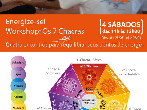 Energize-se - Workshop Os 7 Chacras