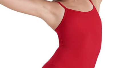 Red Classic Camisole Unitard with Allied Logo