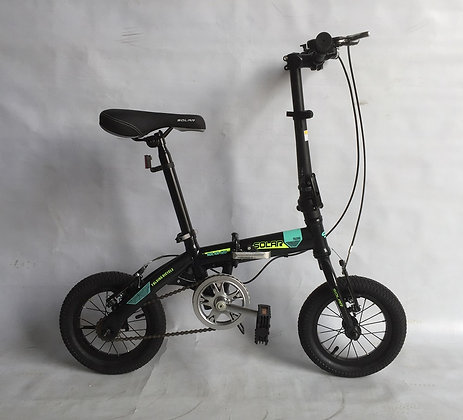 SOLAR FD-120 STEEL FOLDING BIKE 全新鐵架摺車-12""