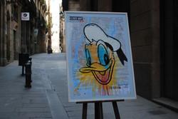 Donald Duck - Delft Blue Simple Fram