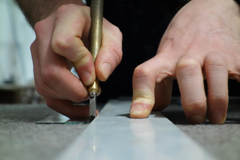 Cutting Glass for Custom Frames