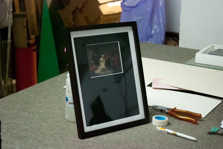 Framed Postcard Execution of Lady Jane Grey - Fine Art