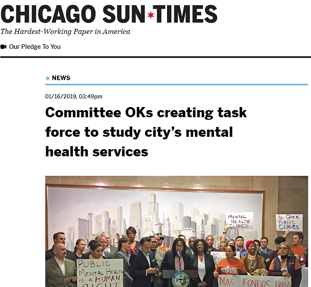 Sun Times Coverage Mental Health Resolut