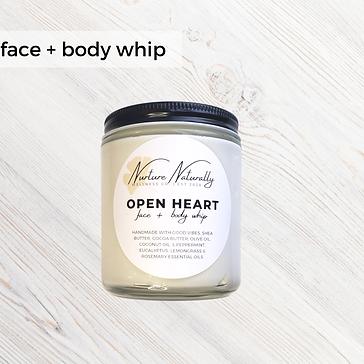 Open Heart Face & Body Whip