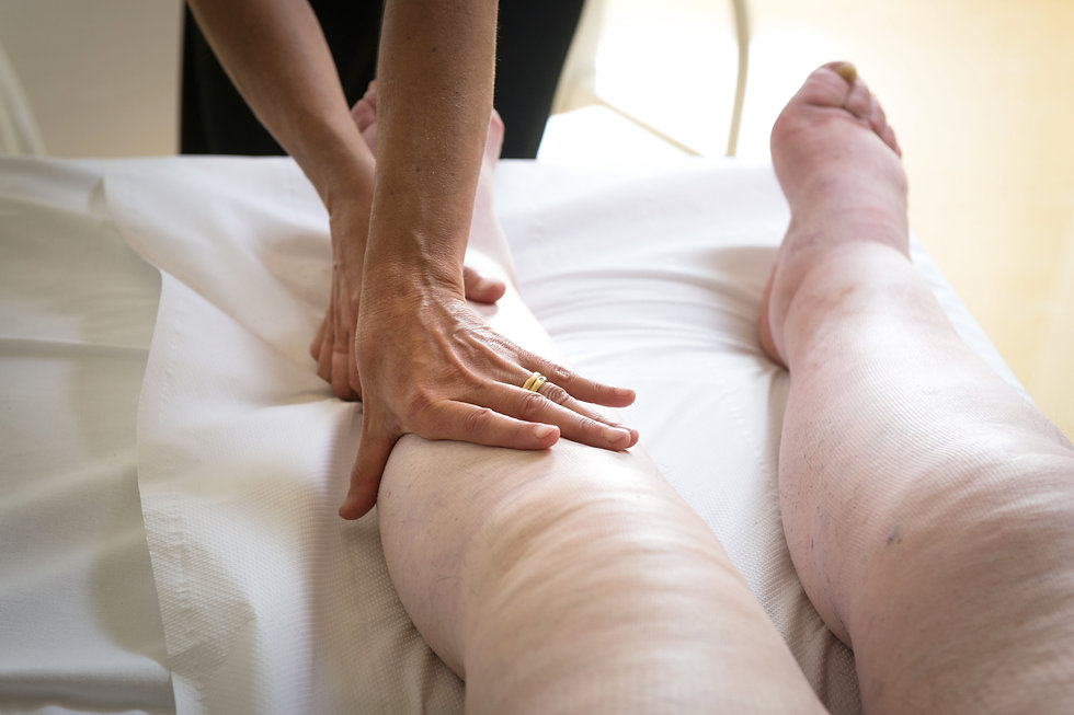 Copy of bandages legs and manual lymphat