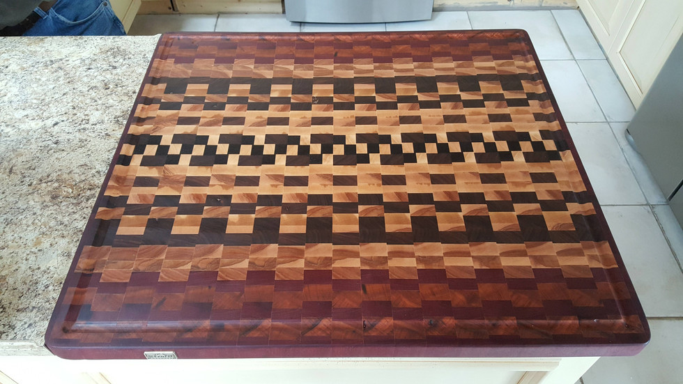 Installed countertop cutting board.