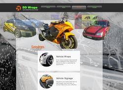 DD Wraps Services Website Page Design
