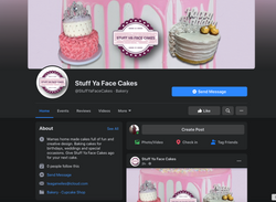 Stuff YA Face Cakes Facebook page design