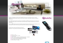AudioTec Website Page Design