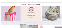 Stuff Ya Face Cakes Website home page design