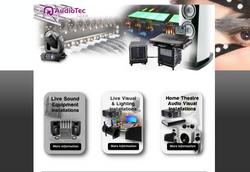 AudioTec Home Website page desgin