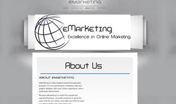 eMarketing About US website page design