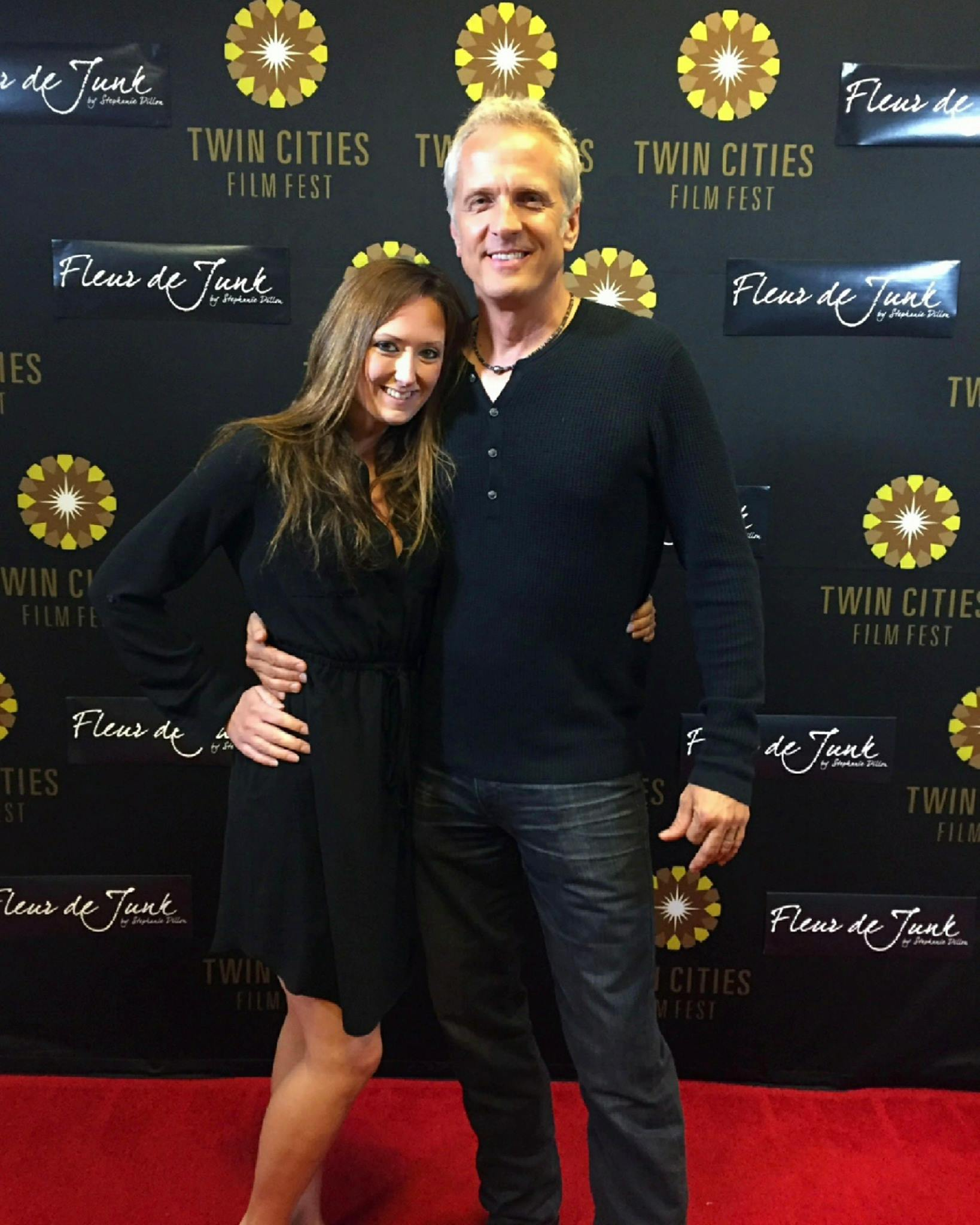 Brandy with friend Patrick Fabian