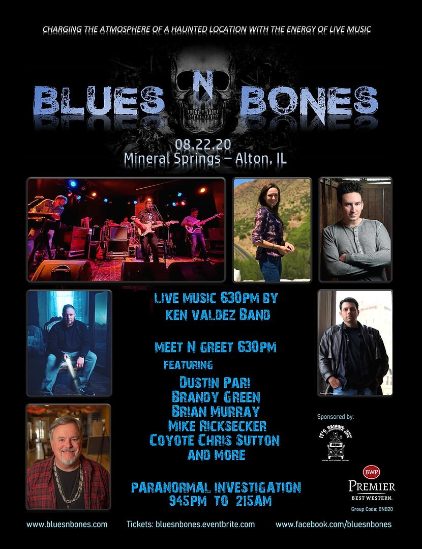 Blues N Bones 2020 Flyer