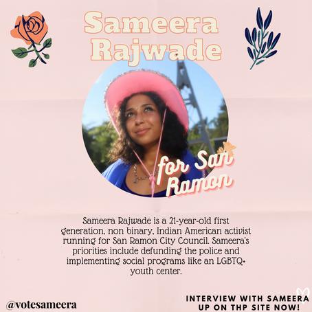 Interview: Sameera, 21 yo Non-Binary Indian American Candidate for San Ramon City Council