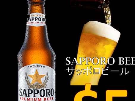 Sapporo Beer at $5! Unlimited orders! (^o^)
