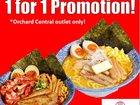1 for 1 Take away at Orchard Central Outlet!