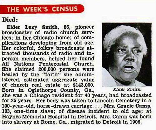 Elder Lucy Smith in Jet Magazine