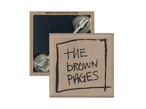"1"" The Brown Pages Pin"