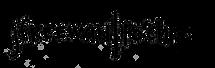 """JFreeman | Po'Chop"" handwritten in Sharpie by Chicago based performance artist Jenn Freeman | Po'Chop"