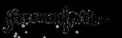 Jenn Freeman | Po'Chop logo handwritten in Sharpie by Chicago Artist